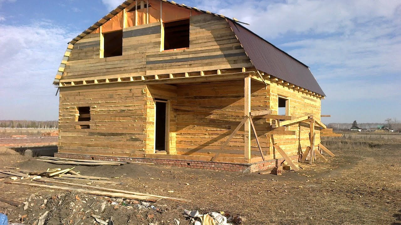 Строительство дома из бруса 6 на 8 своими руками