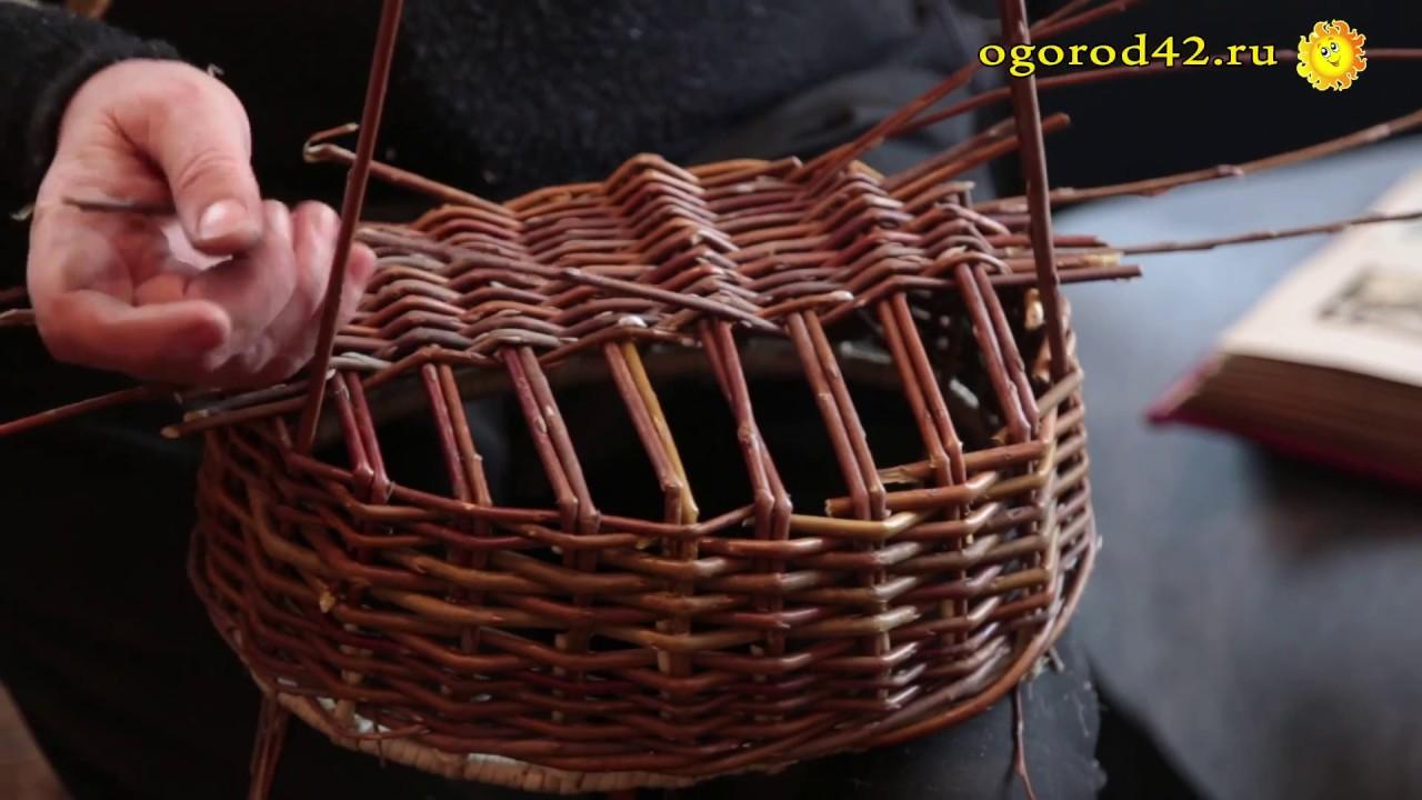 Плетение из лозы для начинающих видео уроки