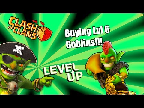 Clash of clans - Buying lvl 6 Goblin, Archer tower and More!