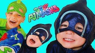 PJ Masks Gekko + Catboy TRICK Night Ninja & PJ Masks Romeo Episodes
