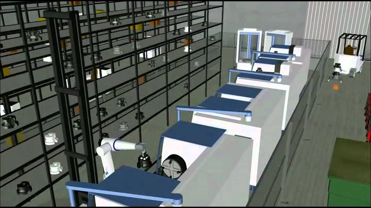 Flexible Manufacturing System  Fms  Simulation