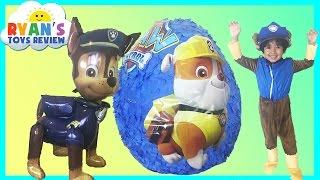 Paw Patrol GIANT EGG SURPRISE OPENING Nickelodeon Surprise Toys Kids Video Ryan ToysReview