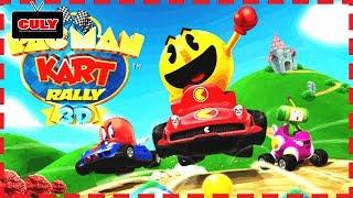 Chơi PacMan kart Rally đua xe lụm vũ khí chiến đấu vui nhộn cu lỳ chơi game