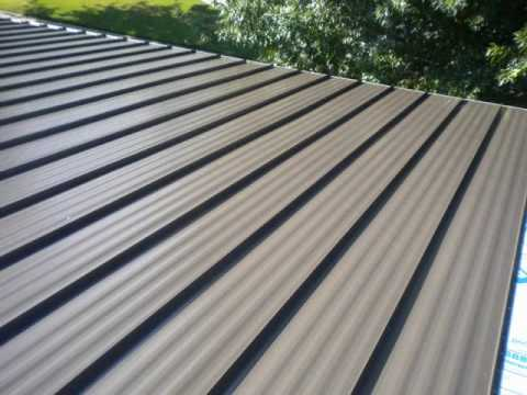 Standing Seam Roofing Burnished Slate Youtube