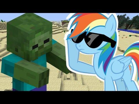 Rainbow Dash Plays Minecraft II 20% Cooler Let's Player!!