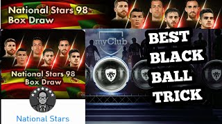 National stars 98 Box draw | BLACK BALL TRICK |PES 2018
