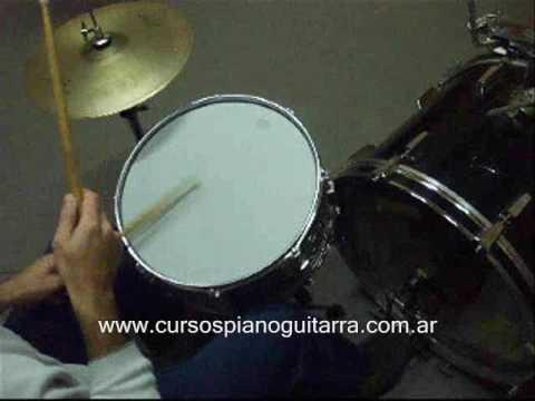 Como tocar Rock en la batería - curso para principiante