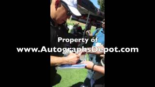 Michael Paul Chan signing autographs in Los Angeles