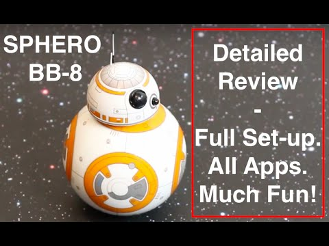 Sphero BB-8 - Detailed play-test Review + Unboxing. Set-up. Fun + Tips for Sphero BB8
