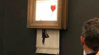 Banksy painting self-destruct 1 million artwork shredded.