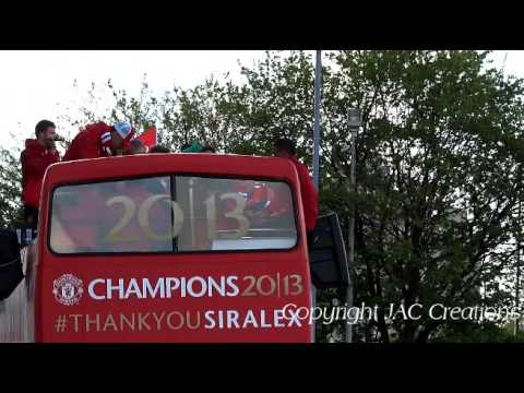 Manchester United CHAMPIONS Victory Parade Outside Old Trafford (PART 2) 2013