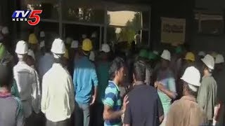 Cement Workers Protest for Salary Hike at Jaggayyapet in Krishna Dist