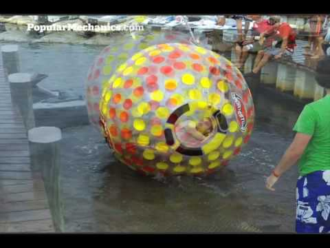 Hammacher Schlemmer 6-Foot Walk-on-Water Ball Gadget Test