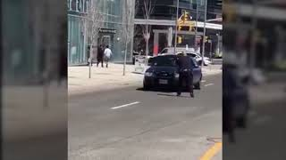 Full video of arrest at Yonge and Finch with captions