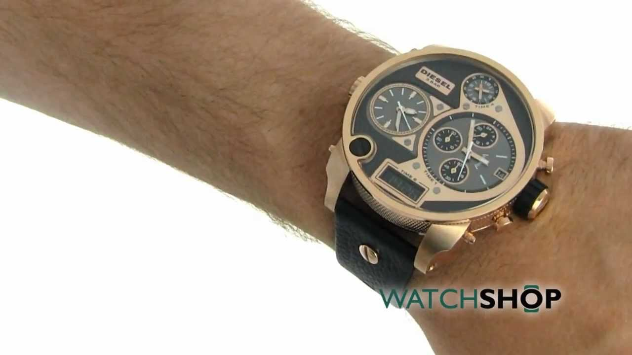 men 39 s diesel big daddy chronograph watch dz7261 youtube. Black Bedroom Furniture Sets. Home Design Ideas