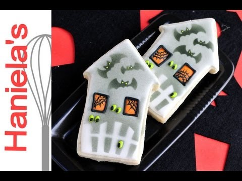 Decorated House Cookies How to Decorate Haunted House