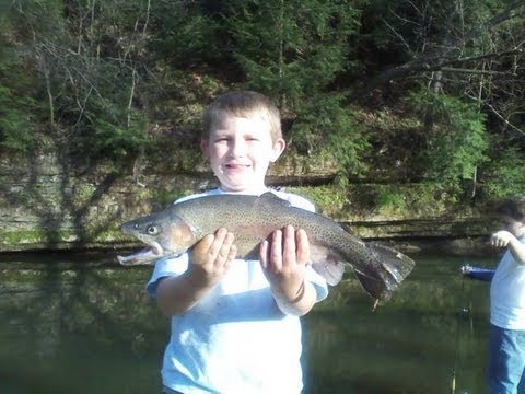 Kids trout fishing Buffalo Cr. Armstrong Co. PA, Filmed with a Drift Stealth HD170