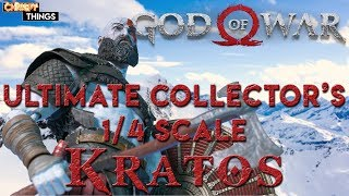 Neca Ultimate Collector's 1/4 Scale Kratos Review: God of War 4! Collectible Things Thursday!