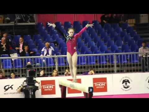 Julie CROKET BEL, Beam, Team Final, European Gymnastics Championships 2012 (Missing Mount)