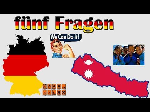 Fünf Fragen 001 - Vergleich Deutschland und Nepal