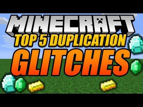 TOP 5 DUPLICATION GLITCHES IN MINECRAFT! - Minecraft Console Edition Glitches!