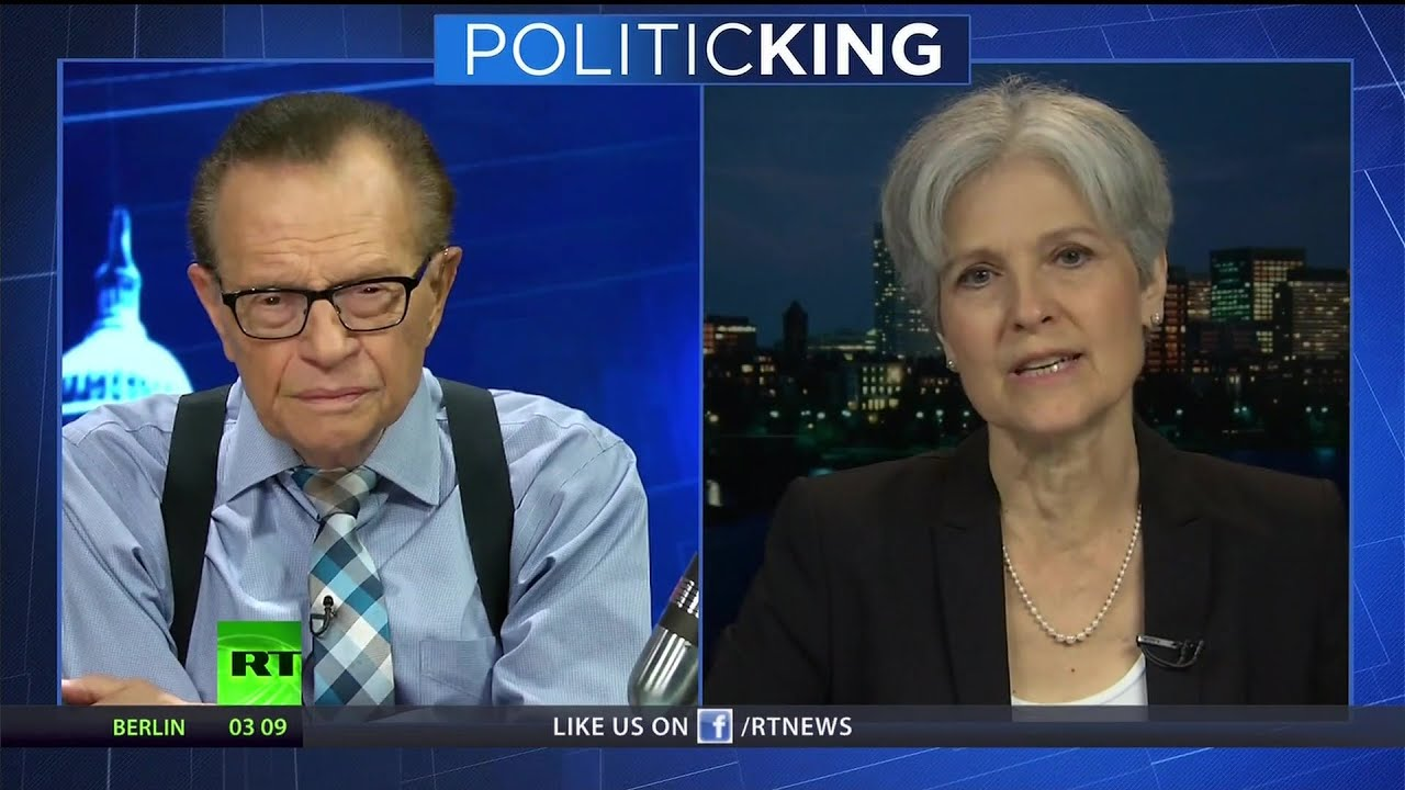 """We need to get outside the system"" – Jill Stein to Larry King"