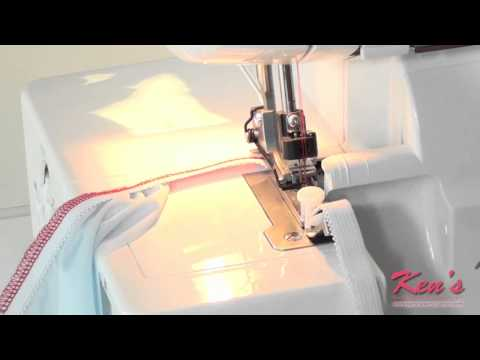 How to use the Brother SA212 Serger Elastic Foot