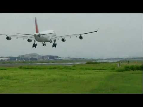 Philippine Airlines A340-300 Landing at Manila