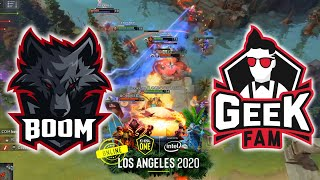 CRAZY SERIES, TIER 5 ITEM !!! BOOM ESPORTS vs GEEKFAM - ESL One Los Angeles 2020 ONLINE DOTA 2