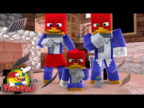 Minecraft: WHO'S YOUR FAMILY? - A FAMÍLIA PICA PAU! (Woody Woodpecker)