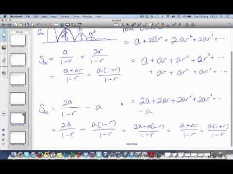 1.2.0 Infinite Geometric Series and Sigma Notation Example 3 & 4