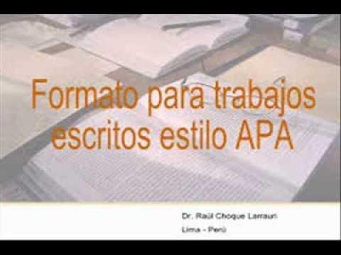 Tutorial de formato del contenido APA sexta edición.