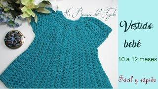 Vestido bebe a crochet paso a paso facil - Crochet baby dress step by step easy