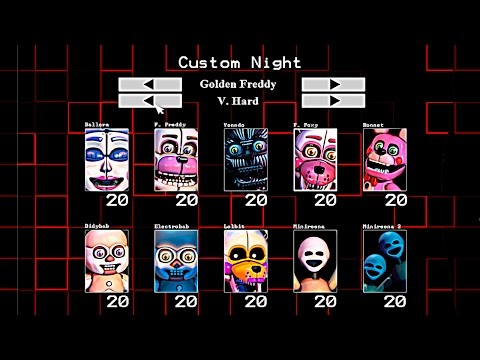 10/20 GOLDEN FREDDY |  FIVE NIGHTS AT FREDDY'S SISTER LOCATION CUSTOM NIGHT Español