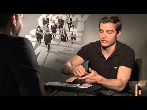 NOW YOU SEE ME interview - Dave Franco card trick! Plus Jesse Eisenberg, Morgan Freeman