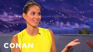 Olivia Munn Really Likes Watching Celebrities Strip - CONAN On TBS