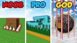 Minecraft NOOB vs. PRO vs. GOD: ZOMBIE BASE DEFENSE CHALLENGE in Minecraft! (Animation)