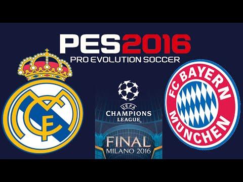 PES 2016 - UEFA CHAMPIONS LEAGUE FINAL - REAL MADRID vs BAYERN MUNICH thumbnail