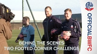 Two Footed Corner Challenge ft. Jay Spearing, David Wheater and Josh Vela