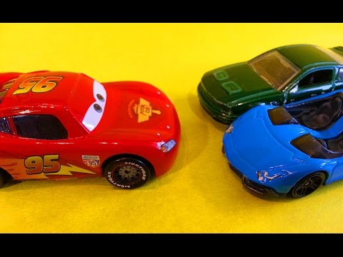 Тачки Молния Маквин и машины Хот Вилс Мультик про машинки для детей Cars McQueen & Hot Wheels