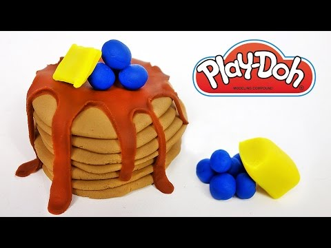 Making Play Doh Food Pancakes for Breakfast