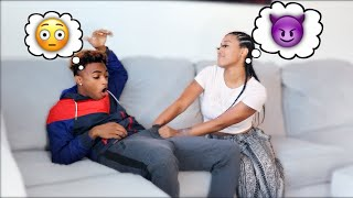I CAN'T STOP K.I.S.S.I.N.G YOU PRANK ON BRI! (Turned real)