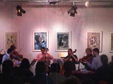 The Doro Sextet giving their final performance of Brahms' string sextet #1 in Bb (op.18) at Galerie Kralingen (Rotterdam, the Netherlands) on March 29th, 2008. The players are (left to right):...