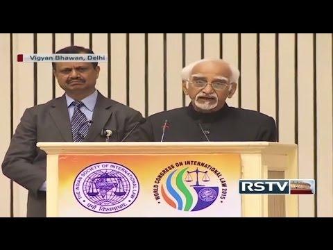 Shri M Hamid Ansari's address on Relevance of International Law' at Vigyan Bhawan, New Delhi