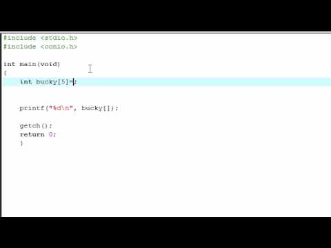 C Programming Tutorial - 14 - Intro to Arrays
