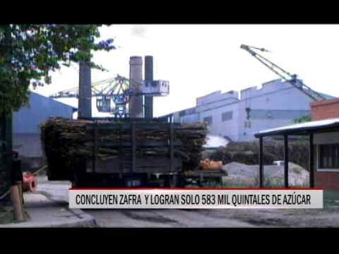 27/11/2014 - 14:13 CONCLUYEN ZAFRA  Y LOGRAN SOLO 583 MIL QUINTALES DE AZÚCAR