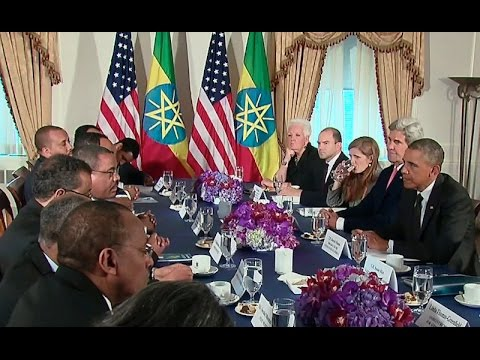 President Obama Meets with the Prime Minister of Ethiopia