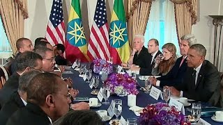 President Obama Meets with the Prime Minister of Ethiopia - ፕሬዝዳንት ኦባማ ከጠቅላይ ሚኒስቴር ሓይለማርያም ደሳለኝ ጋር ያ