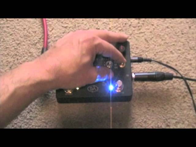 Daring Audio LASER CANNON HD bass overdrive, fuzz, distortion knob turning demo