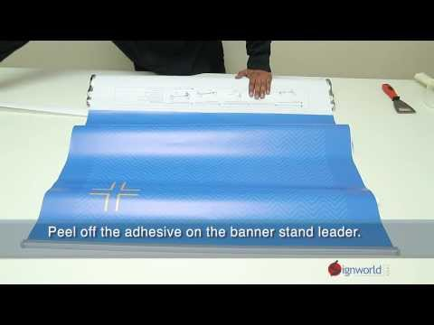 How to install a banner into a Signworld HD Retractable Banner Stand